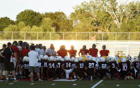 Football begins season with scrimmage