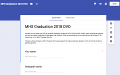 Graduation 2018 DVD order