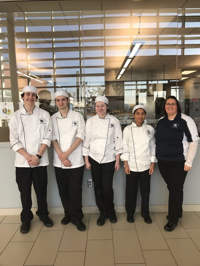 Students cook away at the JCCC competition