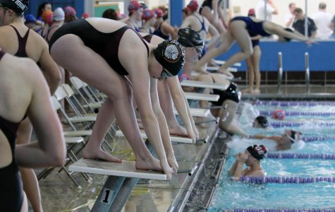 Girls swim and dive place first on home turf