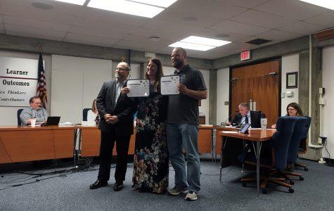 Noah Busch named USD 383 teacher of the year