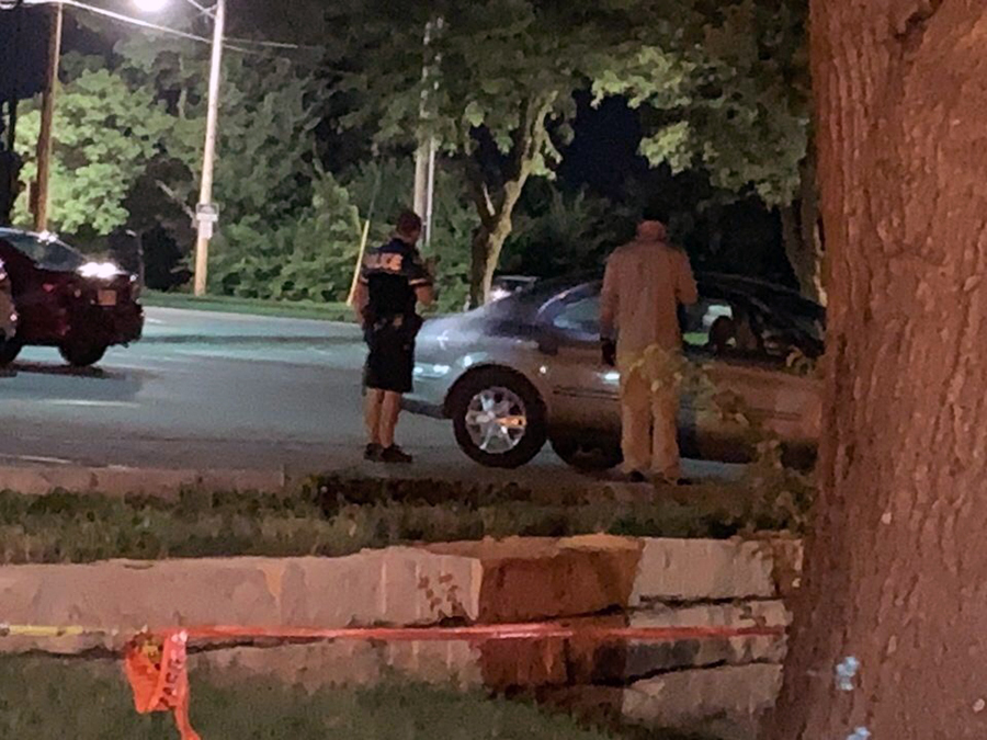 RCPD+and+CSI+investigate+senior+Madison+Ritz%27s+car+around+8%3A30+p.m.+after+the+shooting+happened+in+the+Oak+Street+lot.+The+shooting+occurred+at+around+6%3A45+p.m.+