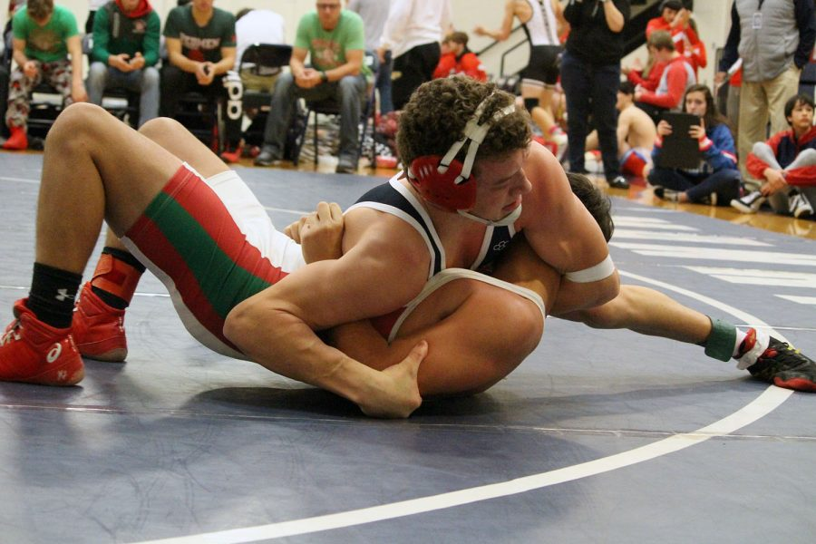 Wrestling+takes+first+at+home+meet